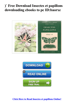 Free Insectes et papillons downloading