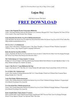 LUJZA HEJ - MAIN   Free eBook PDF
