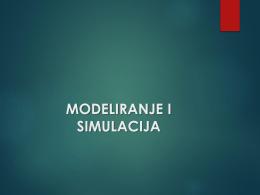 1.MODELIRANJE I SIMULACIJA