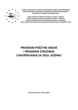 program početne obuke i program stručnog