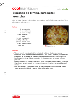 Slo¾enac od tikvica, paradajza i krompira