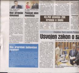 """Page 1 spravka S presretan Saluultati """"ZITI"""". U jučerašnjem izdanju"""
