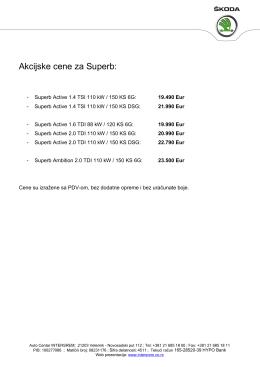 superb - akcijske cene - Auto centar Intersrem doo, Veternik
