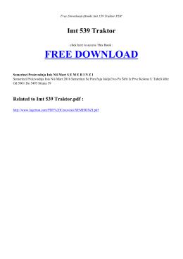 IMT 539 TRAKTOR - Free Book