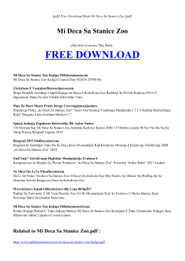 MI DECA SA STANICE ZOO | Free PDF eBook