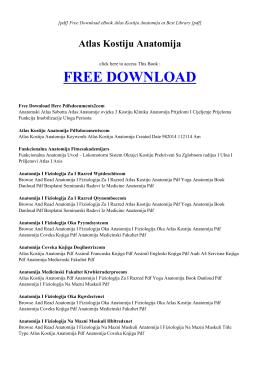 ATLAS KOSTIJU ANATOMIJA | Free PDF eBook
