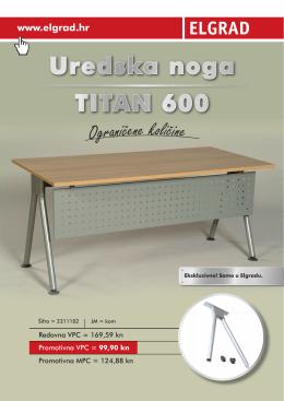Uredska noga TITAN 600