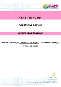 Neos MarmarasTERMIN