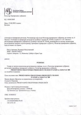 ID List - TIS Ivanjica