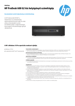 HP ProDesk 600 G2 kis helyigényű számítógép