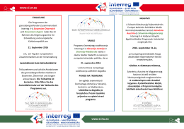 Vabilo_Program EC DAY 2016 - SI Interreg VA Slovenija