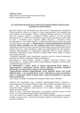 SZÉKELY Tibor Magyar Huszár és Katonai Hagyományőrző