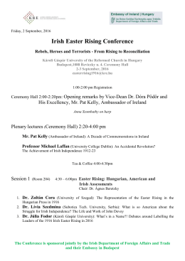 Irish Easter Rising Conference