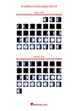 Grafikus holdnaptár 2016