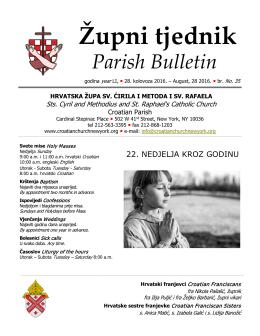opširnije u našem tjedniku - www.croatianchurchnewyork.org