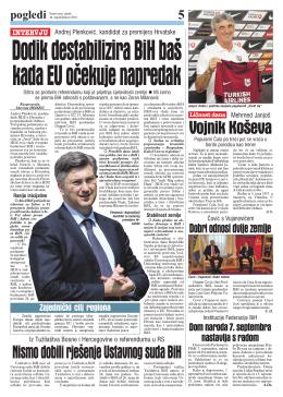 Dodik destabilizira BiH baš kada EU očekuje