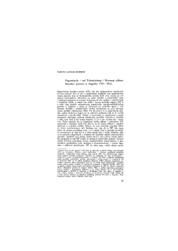 Organizacija i rad Pokrajinskog i Mjesnog odbora Narodne pomoći