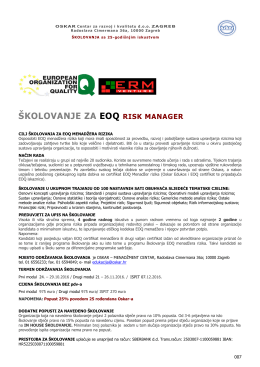 školovanje za eoq risk manager