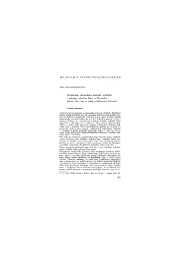 Proučavanje ekonomsko-socijalne strukture i položaja radničke