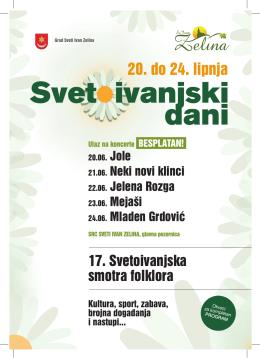 20. do 24. lipnja - Grad Sveti Ivan Zelina