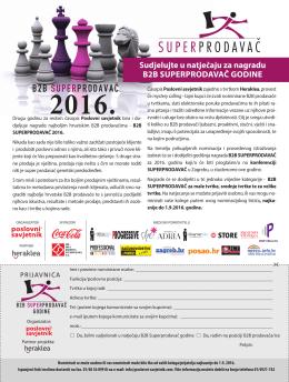 superprodavac-2016 - Poslovni savjetnik