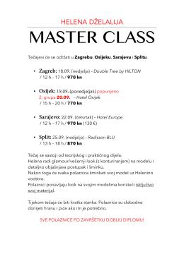 master class - Helena Dželalija
