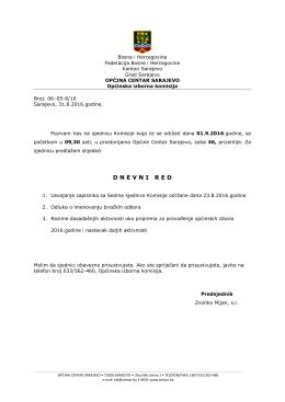 dnevnired - Općina Centar