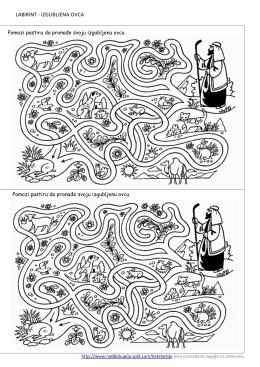 Izgubljena ovca labirint vjeronauk učenje kroz igru