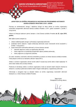 Javni poziv - Savez izviđača Hrvatske