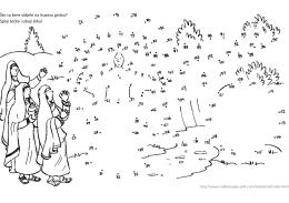 Uskrs anđeo žene na grobu točkalica vjeronauk učenje kroz igru