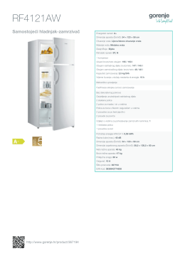 Inormacije o proizvodu RF4121AW