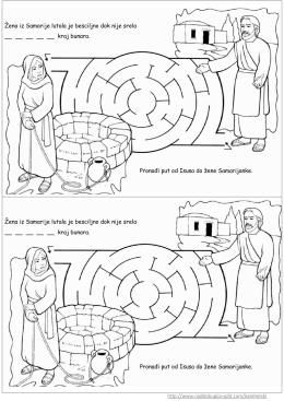 Labirint isus i samarijanka vjeronauk