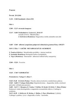 Program Štvrtok 29.9.2016 11,30 – 13,00 Zasadnutie