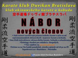 Nábor - duvikan.sk