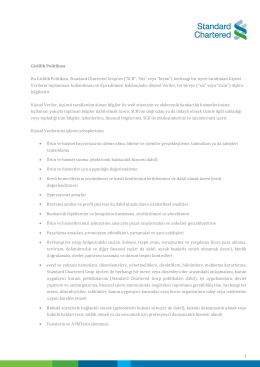 Corporate Memorandum - Standard Chartered Bank