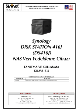 Synology DISK STATION 416J (DS416J) NAS Veri