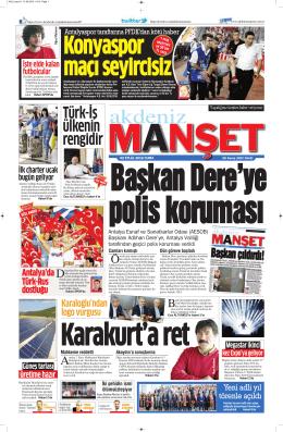 Türk-İş ülkenin rengidir - Antalya Haber - Haberler