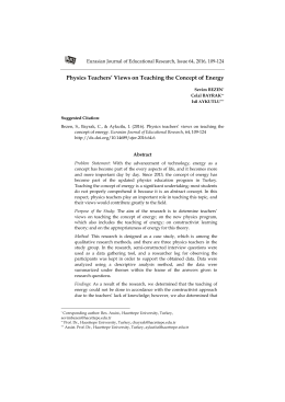 Physics Teachers` Views on Teaching the Concept of Energy