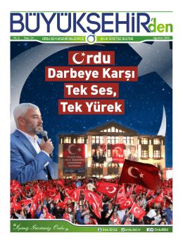 Ağustos Ayı Bülten 24. Sayı - Ordu Büyükşehir Belediyesi