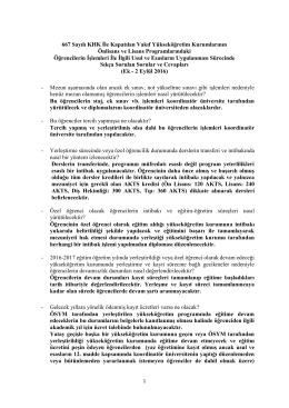 667 Sayılı KHK İle Kapatılan Vakıf Yükseköğretim Kurumlarının