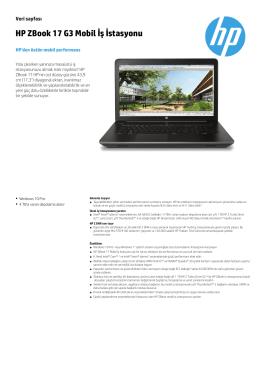 HP ZBook 17 G3 Mobil İş İstasyonu