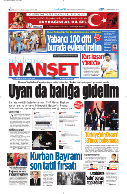 8 - Antalya Haber - Haberler