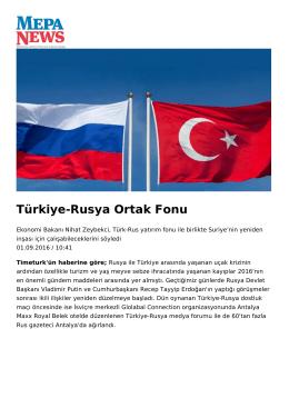 Türkiye-Rusya Ortak Fonu