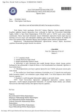 Türk Eğitim Vakfı Bursu - Ege Üniversitesi Bilgisayar Mühendisliği