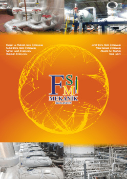 İzolasyon Kataloğu - FSM Mekanik endüstriyel tesisat havalandırma