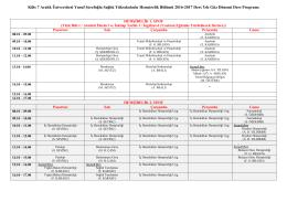 2016-2017 Güz yarı yılı ders programı