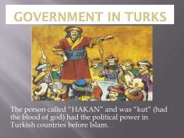 Türklerde yönetim