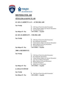 referanslar - Misyon GROUP