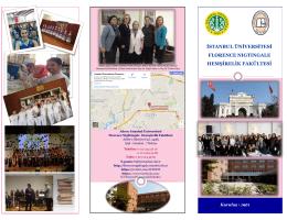 Fakülte Tanıtım Broşürü - İstanbul Üniversitesi Florence Nightingale