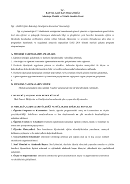 2016 eylül ayı mesleki gelişim çalışmaları programı